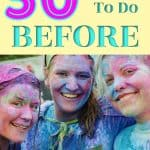 3 women covered in colored powder