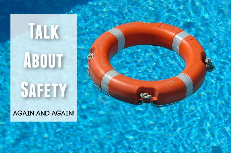 life preserver in water - Sun And Water Safety Tips - Keeping Kids Safe