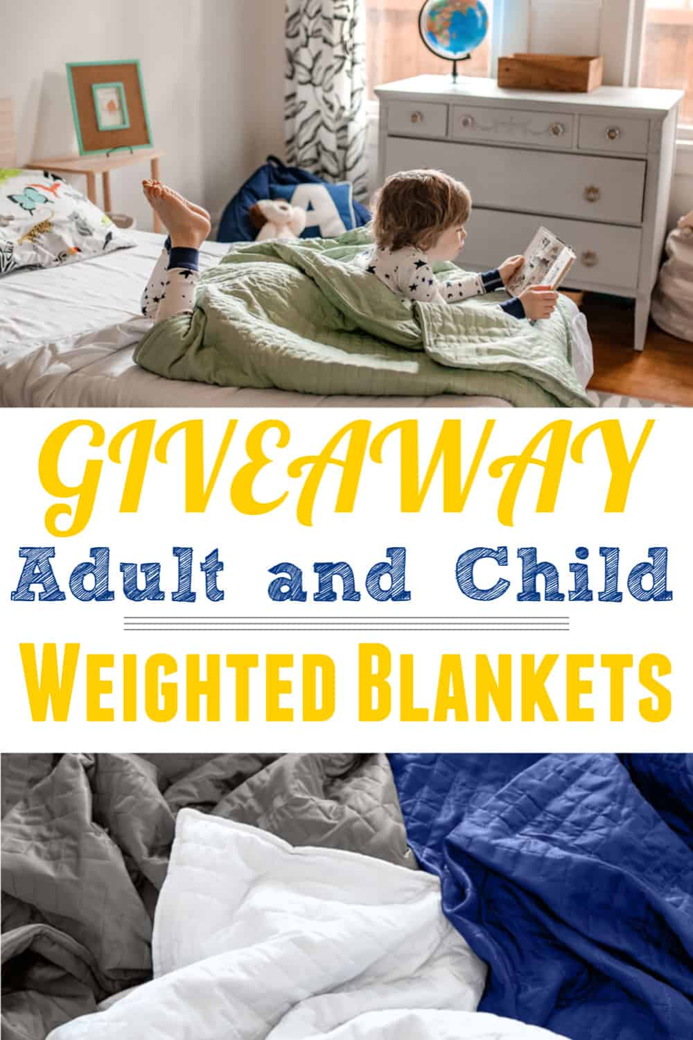 boy with weighted blanket