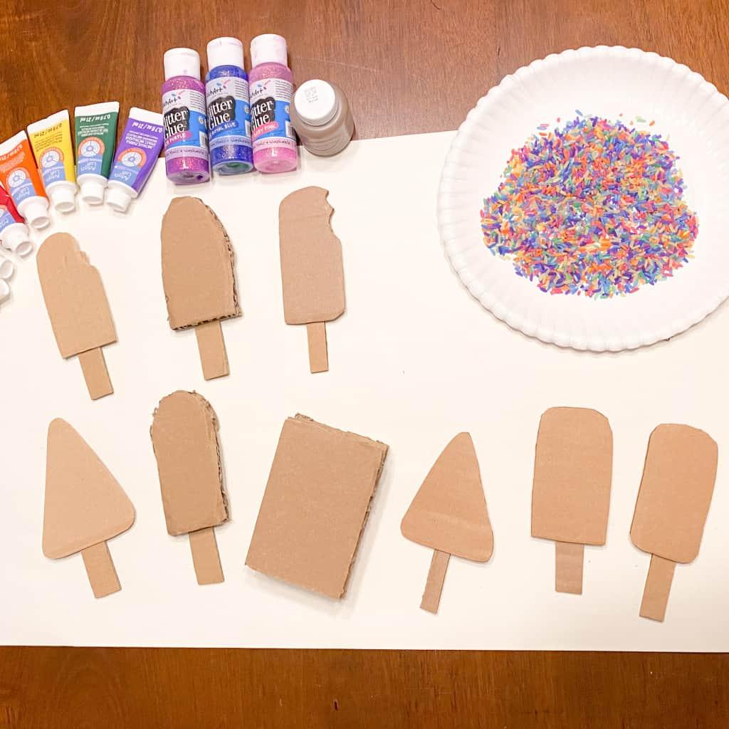 cardboard popsicle craft