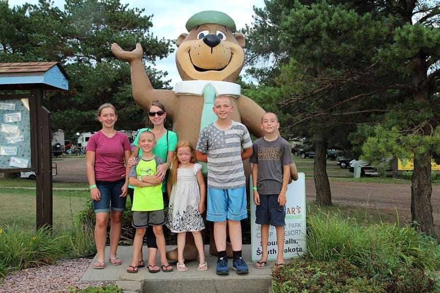 yogi bear + family - Jellystone - Top 10 Things To Do In Sioux Falls + The Best Place To Stay!