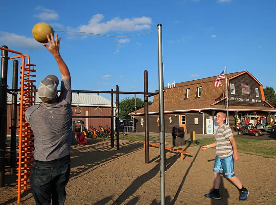 tetherball game -Top 10 Things To Do In Sioux Falls + The Best Place To Stay!