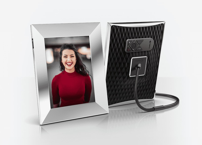 Silver frame with remote