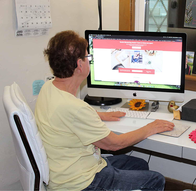elderly women at computer