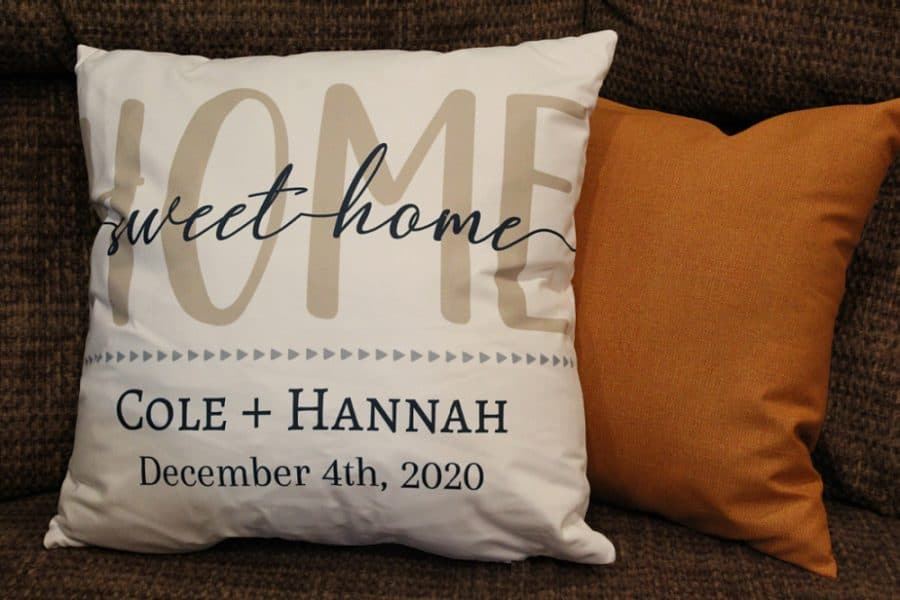 365Canvas - Home Sweet Home Personalized Pillow