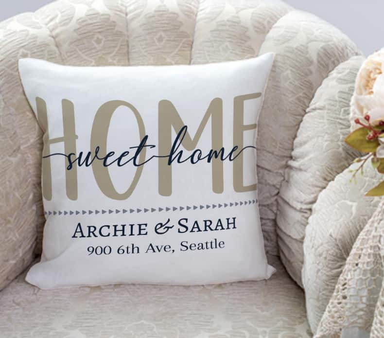 365Canvas Home Sweet Home Personalized Pillow