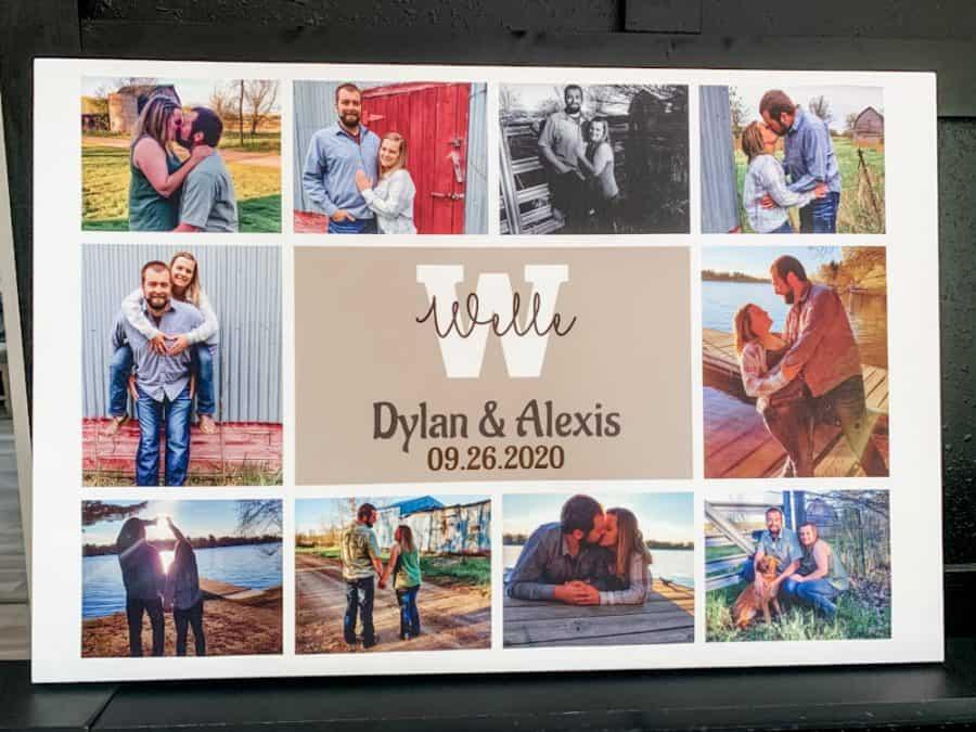 365Canvas - Custom Wedding Monogram Photo Collage Canvas Print