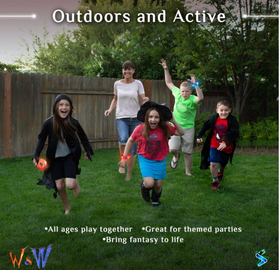 kids playing outside - Starlux Games - Wizards And Werewolves Game Giveaway