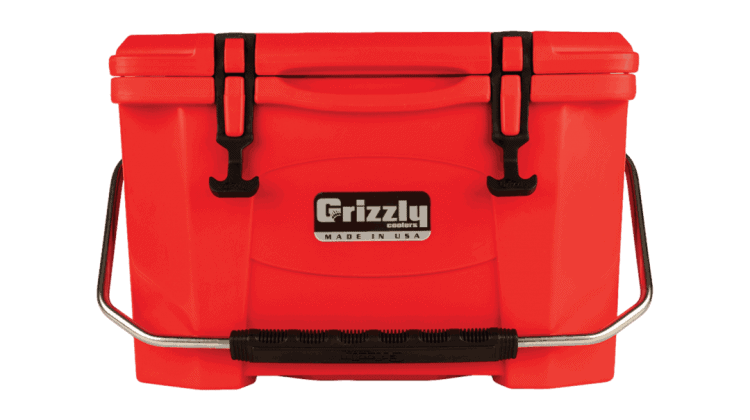 Red Grizzly cooler