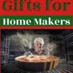 woman with pie in over -The Best Gifts For Homemakers Thrifty Nifty Mommy Holiday Gift Guide- 2020