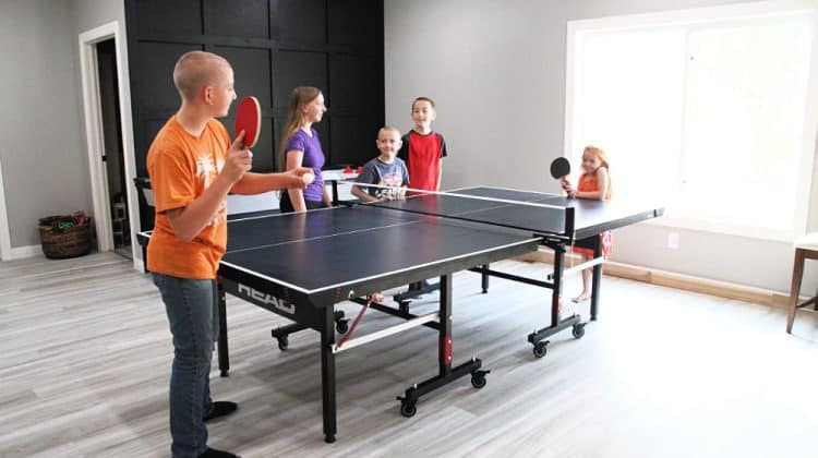 kids playing ping pong - HEAD Summit USA Table Tennis Review - Family Gift Idea!