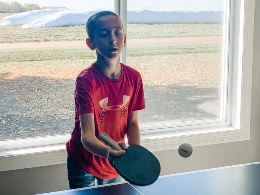 boy playing table tennis - HEAD Summit USA Table Tennis Review - Family Gift Idea!