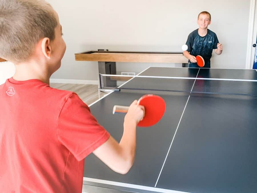 kids playing table tennis - HEAD Summit USA Table Tennis Review - Family Gift Idea!