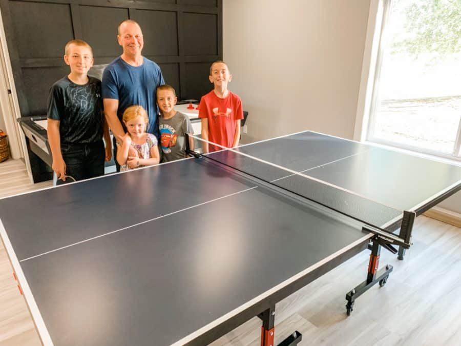family in game room - HEAD Summit USA Table Tennis Review - Family Gift Idea!