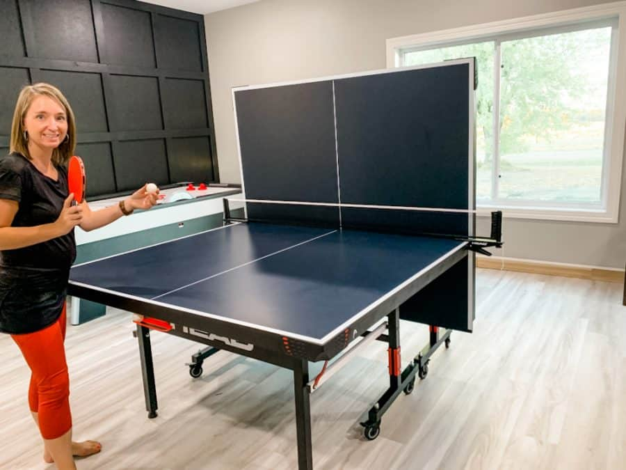 woman playing table tennis by herself - HEAD Summit USA Table Tennis Review - Family Gift Idea!