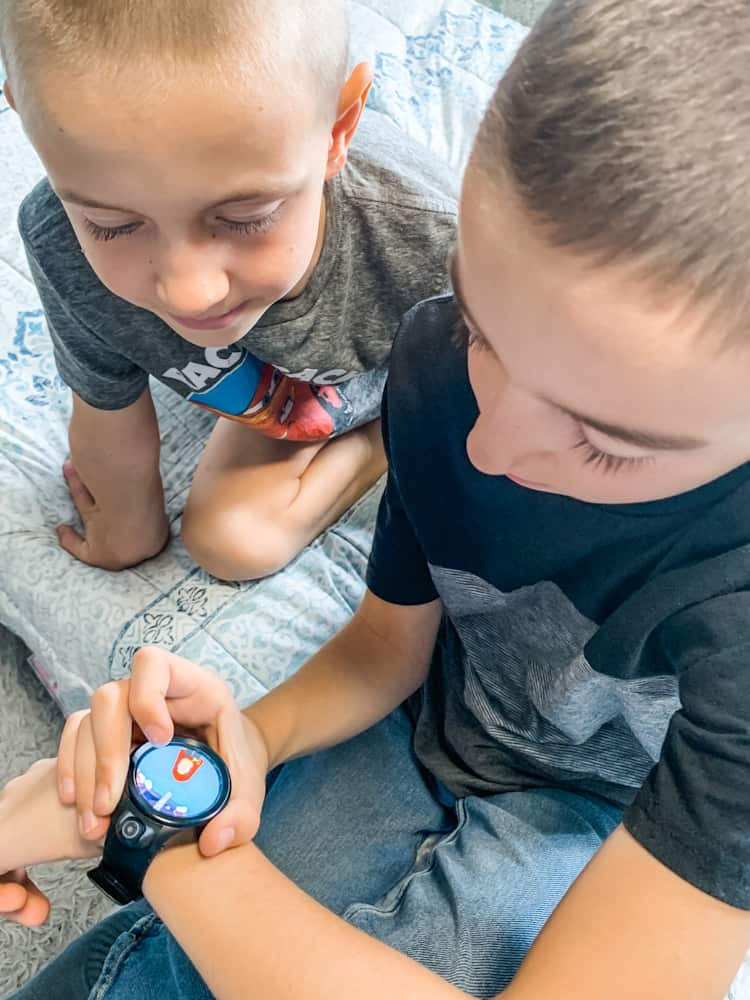 brothers and a smartwatch - Fennec Kids Smartwatch Review