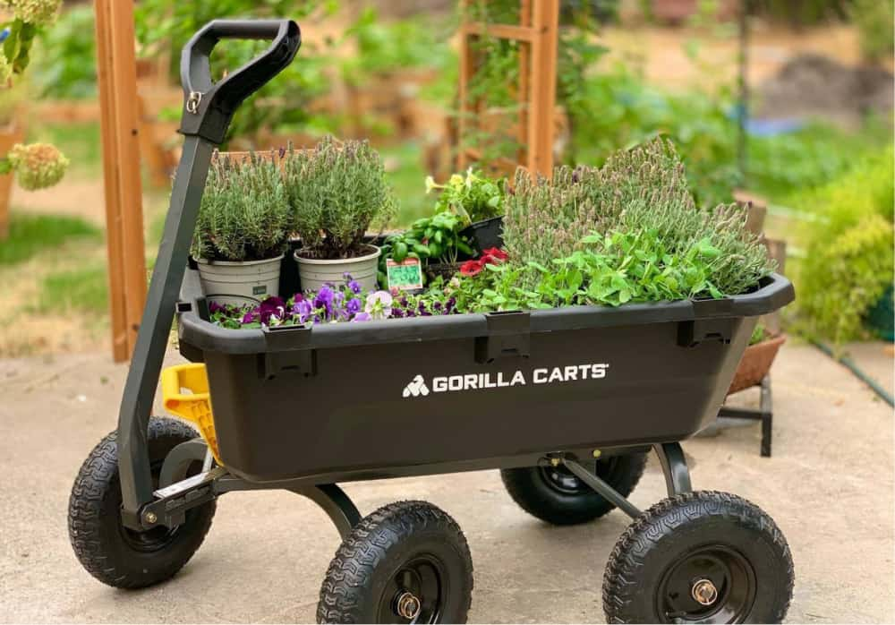 garden cart with flowers - Make Life Easier With Gorilla Carts