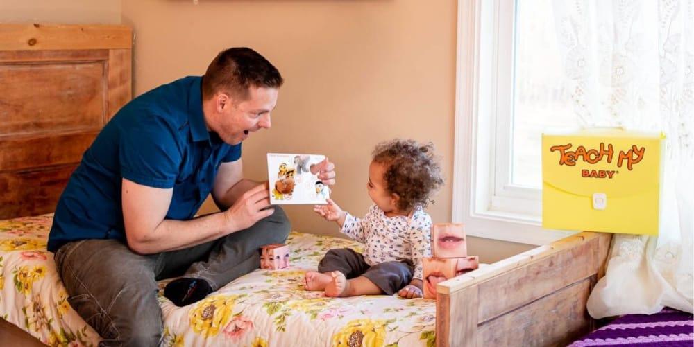 dad and baby - Teach My Baby, Toddler, Preschooler, Kindergartener Kit Giveaway