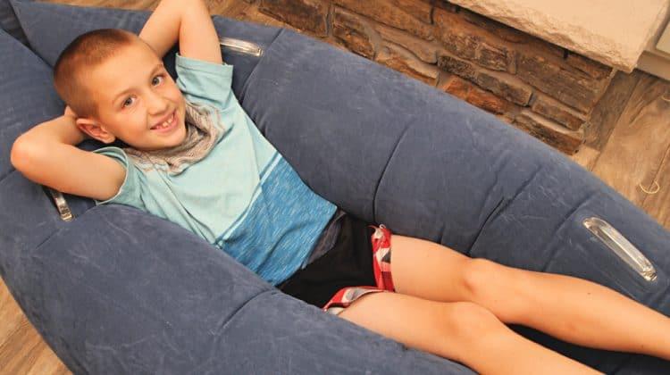 boy in sensory seat Best Tools For Sensory Kids From Harkla
