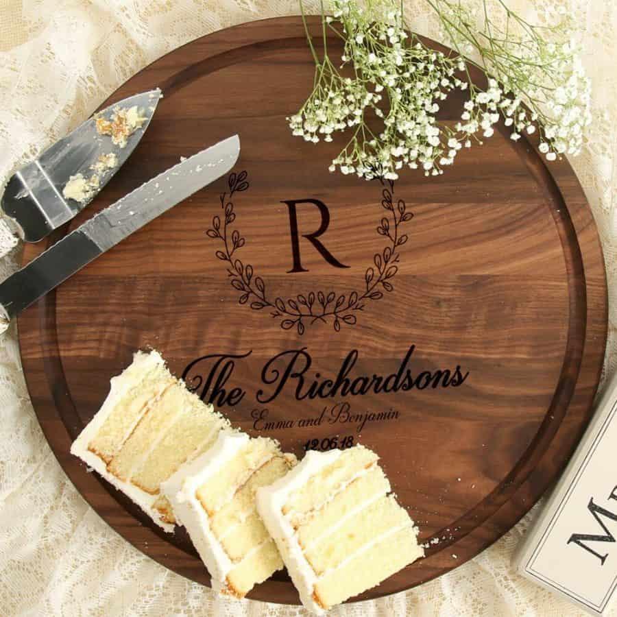 10 1/2 Inch Personalized Wedding Gift Board