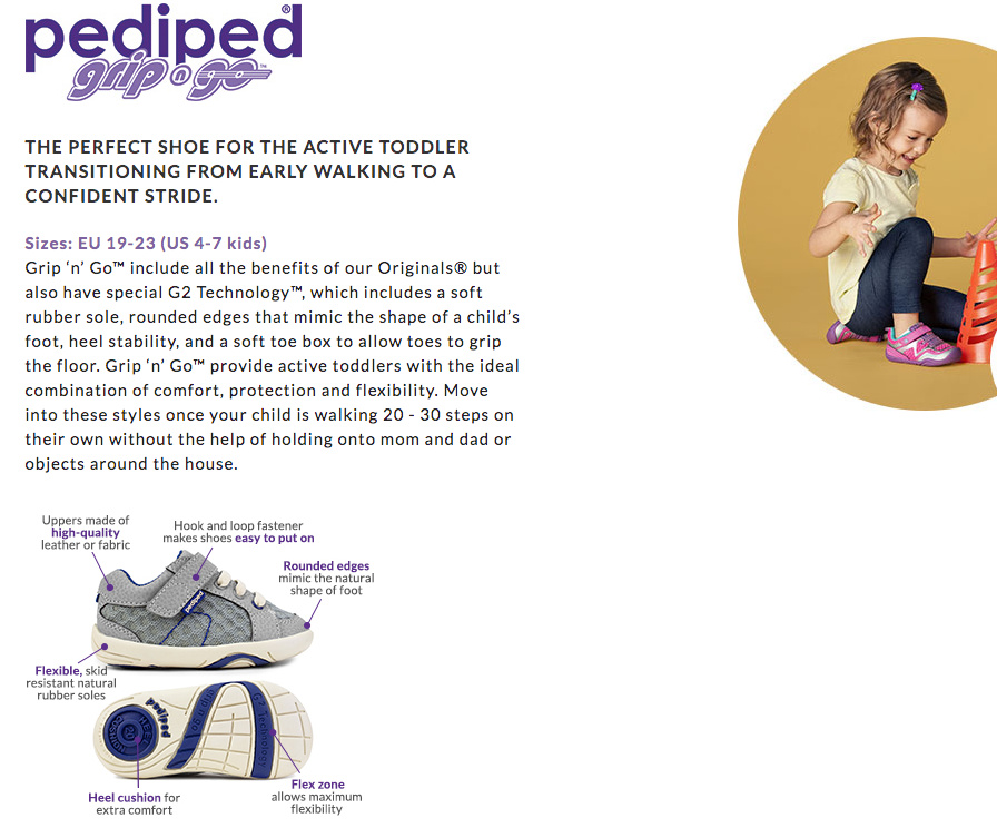 pediped Footwear System - toddlers