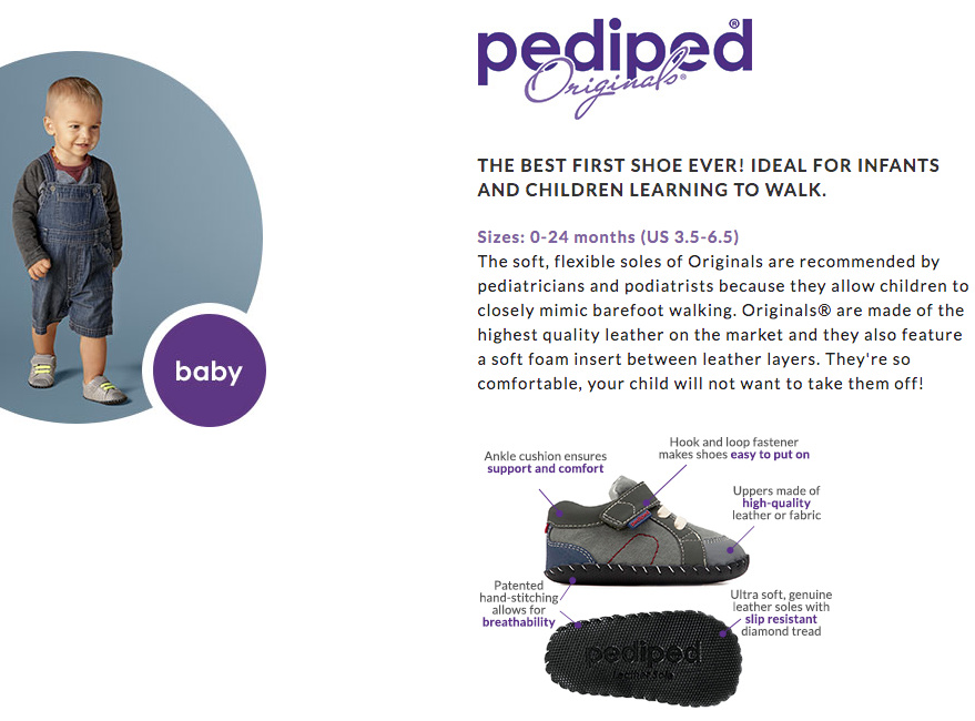 pediped Footwear System- babies