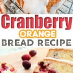 Frosted Cranberry Orange Bread Recipe