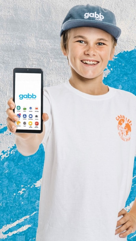 kid with phone - Gabb Wireless: The Affordable + SAFE Phone For Kids (That Looks Cool Too!) + DISCOUNT CODE