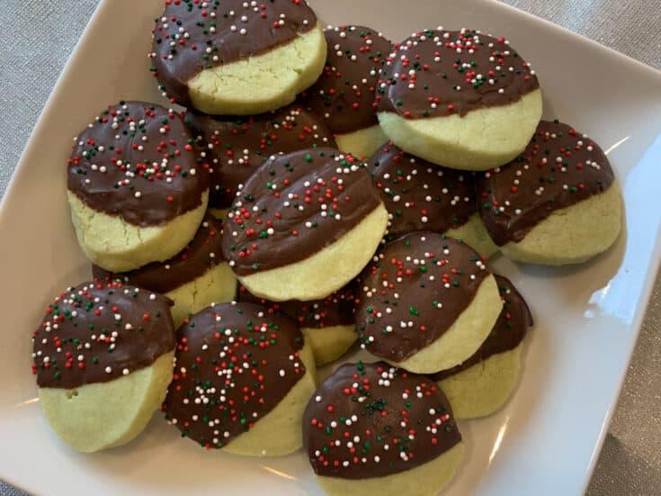 Sprinkled Mint Chocolate Cookies Recipe