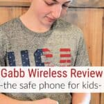 teen boy with phone - Gabb Wireless Review + Discount Code