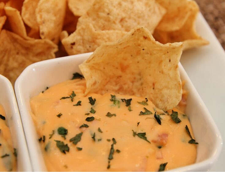Ham and Cheese Hot Spinach Dip