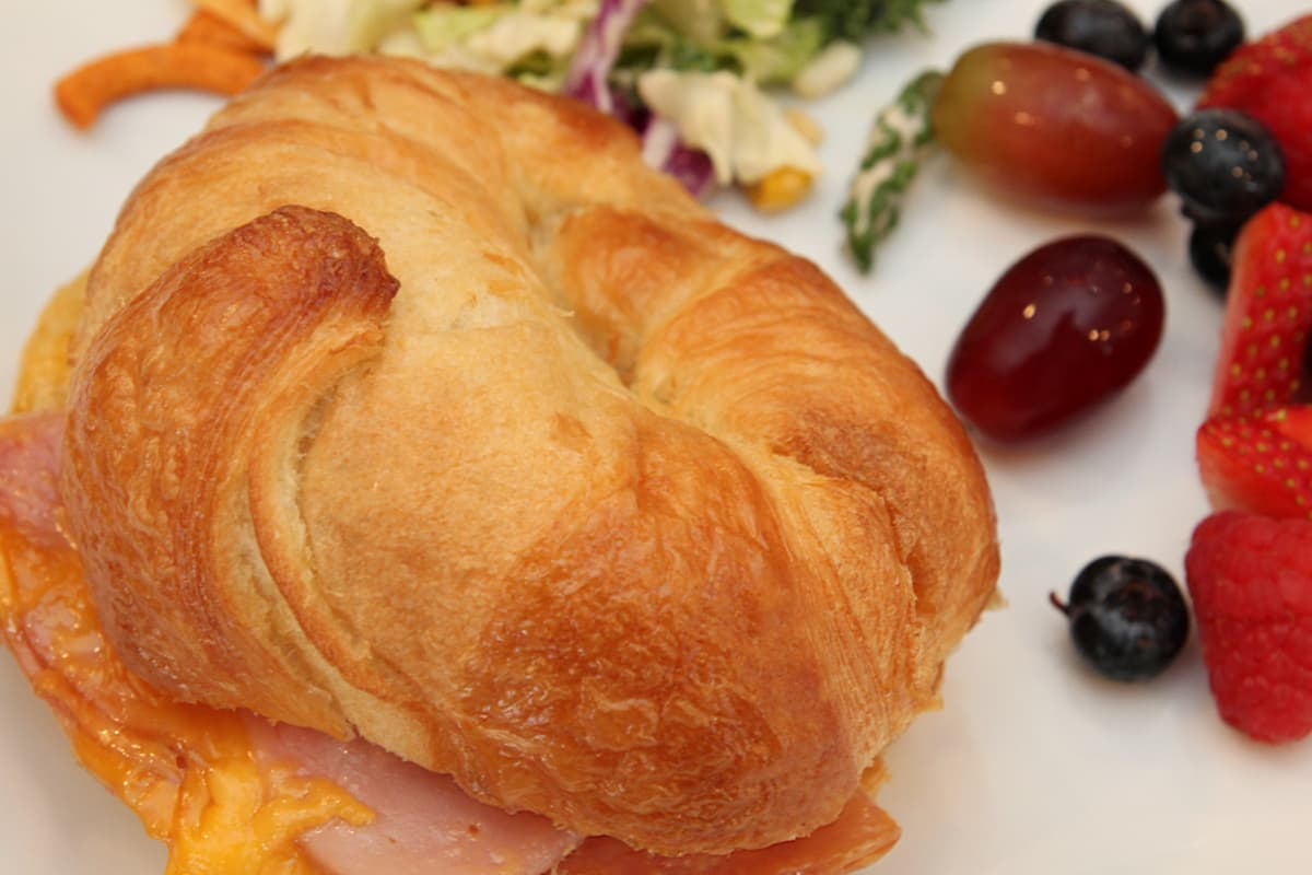 sandwich and sides - Hot Ham and Cheese Crockpot Sandwiches Recipe