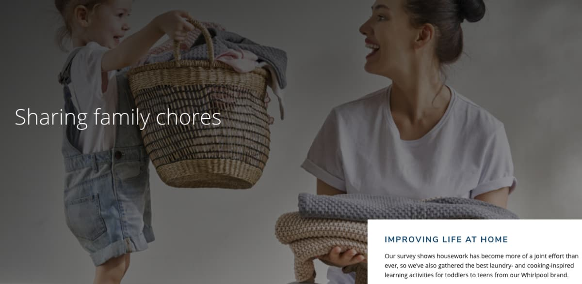 daughter and mom doing laundry - Family Laundry Tips - Everyday Chores Made Easy With Whirlpool Corporation's Improving Life at Home Hub