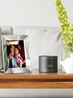 coffee table with decor - Nixplay Smart Photo Frame