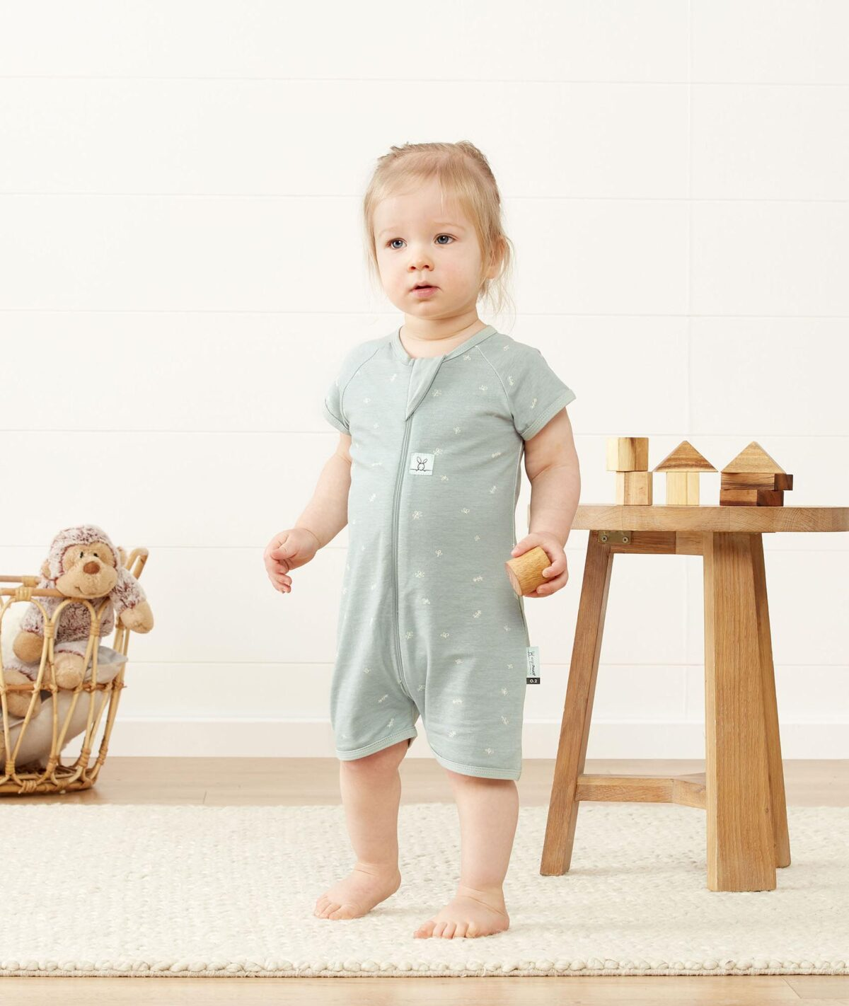 baby girl walking - ergoPouch Pajamas Giveaway
