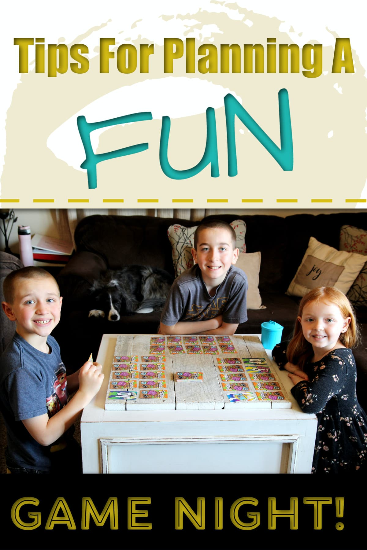 3 Kids Smiling- Tips For Planning A Fun Game Night