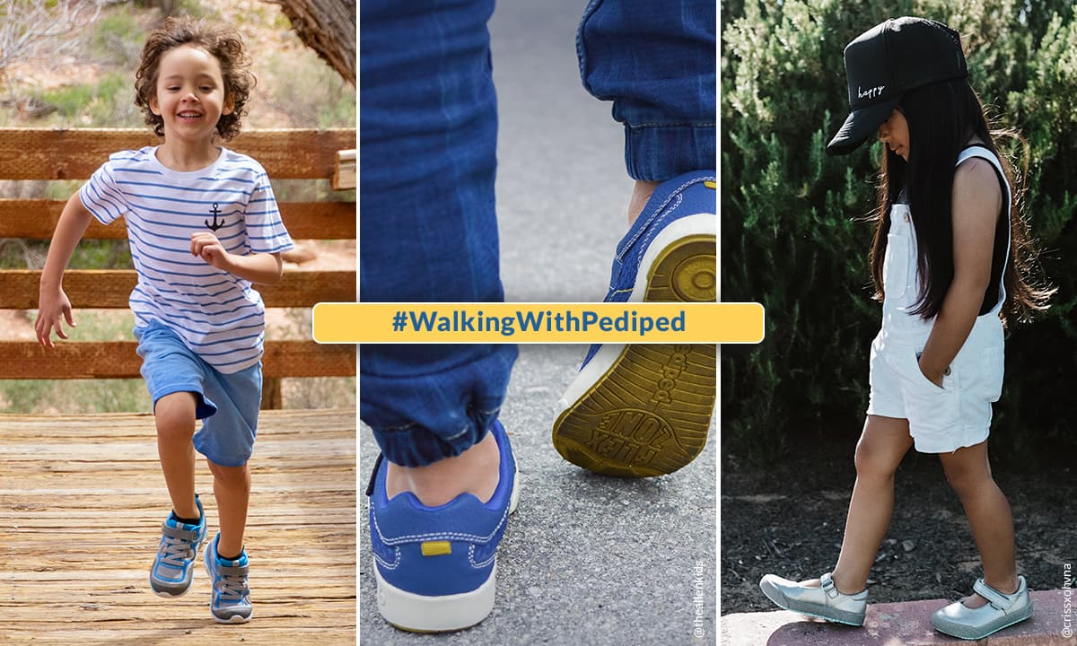 kids walking and running - pediped National Walking Day Contest (+ Giveaway)