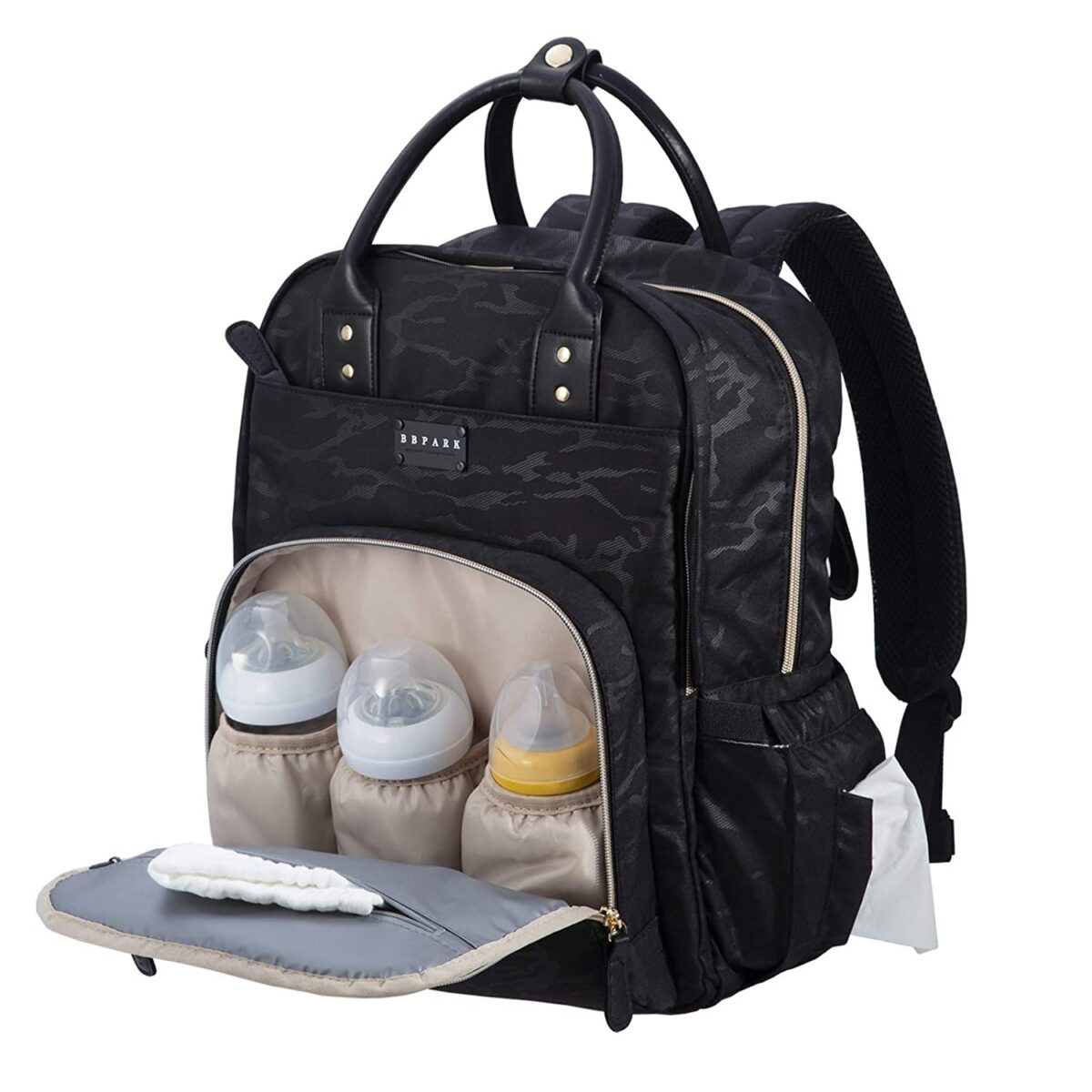 BBPARK Camo Diaper Bag Backpack