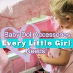 Girl with Doll Crib- Baby Doll Accessories Every Little Girl Needs