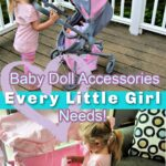 Baby DollGirl with Stroller and Doll Crib- Accessories Every Little Girl Needs