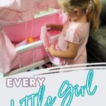 Girl with Doll Crib- Doll Accessories Every Little Girl Needs