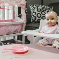 Doll In High Chair- How to create a space for the mini mommy in your life