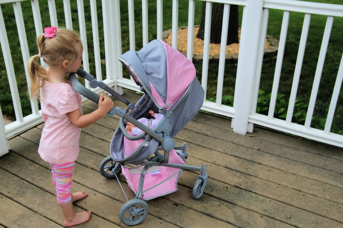 Little Girl With Stroller- How to create a space for the mini mommy in your life