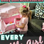 Little Girl with Doll Crib- Baby Doll Accessories Every Little Girl Needs