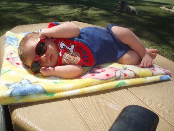 baby in the sun